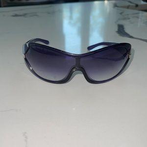 Used Auth Prada woman sunglasses Purple